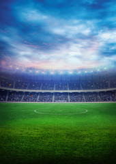 Football field isolation background