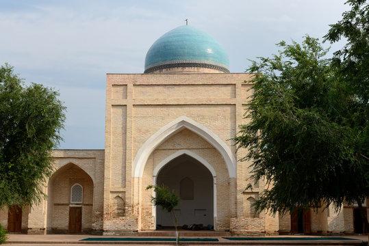 View on the Norbut - Biya Madrasah, Kokand - Fergana valley, Uzbekistan