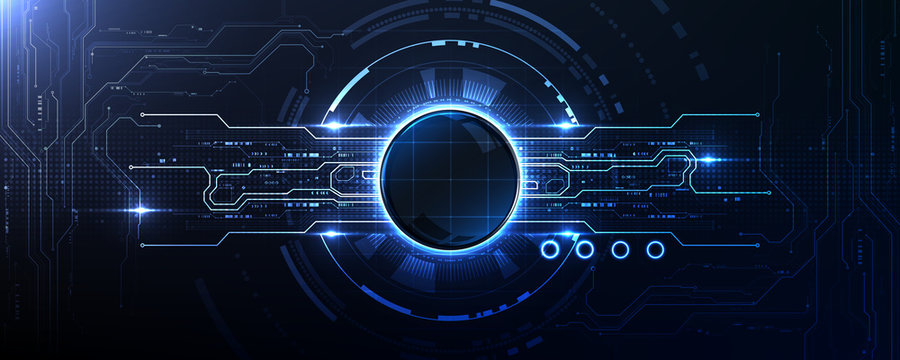 Technology abstract illumination port connection background template copy space vector