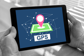 Gps concept on a tablet