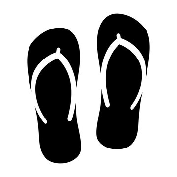 Flip flops sandal beach wear flat vector icon for apps and websites