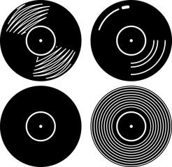 Fototapeta Vinyl Record Icon obraz