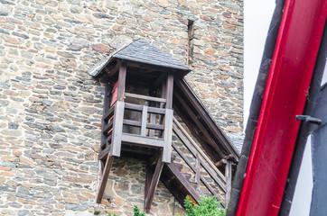Historic castle tower of a castle complex