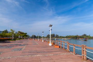 Empty promenade of Kota Kinabalu