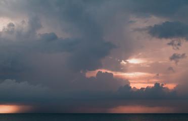 Stormy tropical sky over ocean