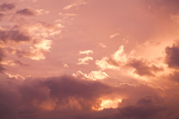 Colorful cloudy tropical sky