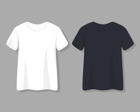 stock vector Men's t-shirt design template vector flat style
