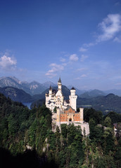 Printed kitchen splashbacks Historical buildings Europe, Germany, Bavaria, Neuschwanstein castle vertical