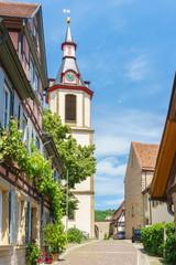 Stadtansicht von Creglingen im Taubertal