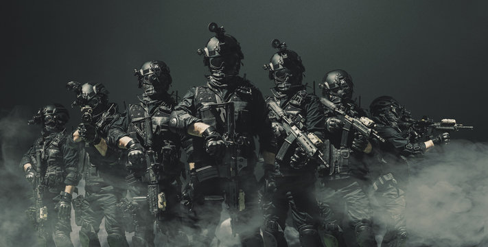 special forces soldier police, swat team member