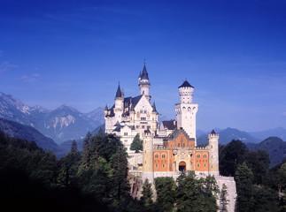 Europe, Germany, Bavaria, Neuschwanstein castle horizontal