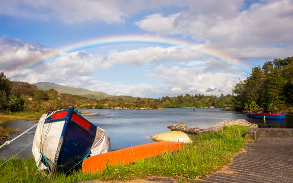 Rainbow at Bantry Bay in Ireland