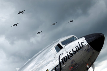 70th anniversary of the Berlin Airlift at U.S. airfield in Wiesbaden