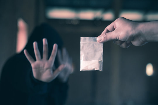 STOP! Say no to drugs! Stop drugs concept.
