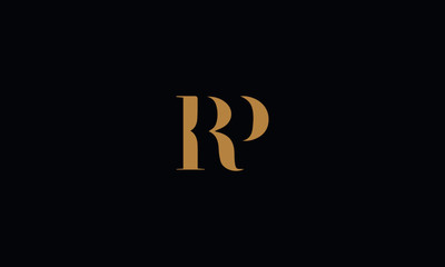 RP logo design template vector illustration