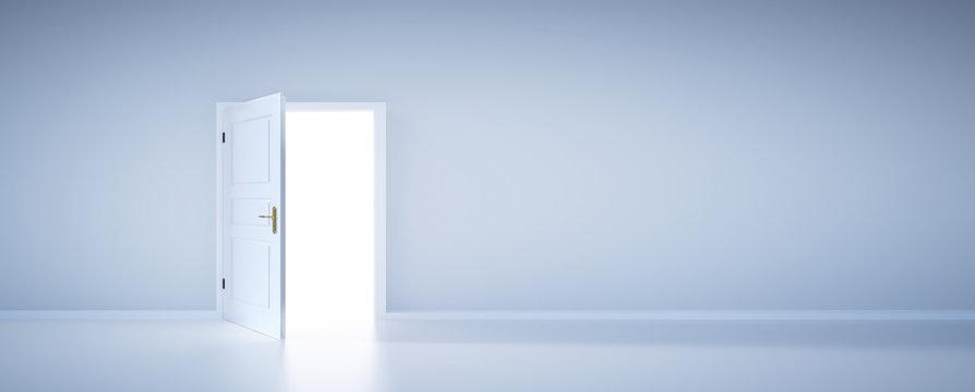 Open door to light, new life