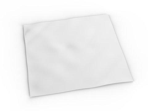 Blank headband or bandana for branding mockup. 3d render illustration.