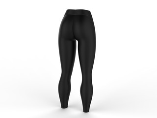 Blank Women's Leggings Mock up. 3d render illustration.