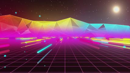 Estores personalizados con paisajes con tu foto 80s Retro Neon Tube