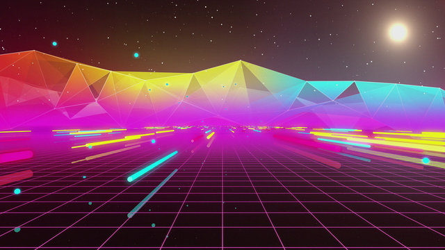 80s Retro Neon Tube