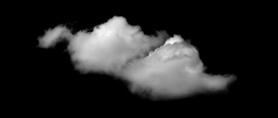 White cloud, Fluffy texture , Abstract, isolated on black background Fototapete