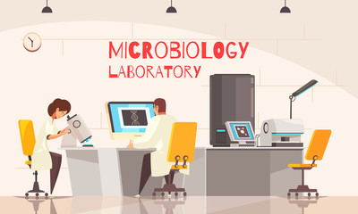 Microbiology Laboratory Office Composition