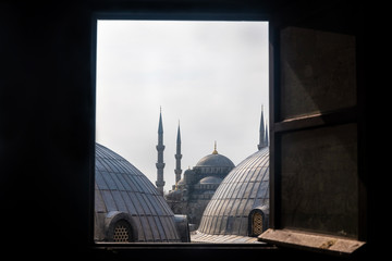 View to Blue Mosque domes