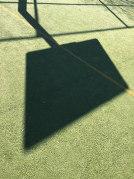 shadow of sign on sport field