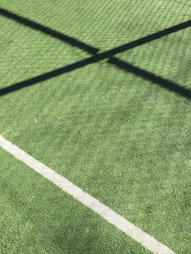 lines and shadows on a sport field