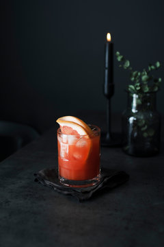 Pink Grapfruit Juice Cocktail