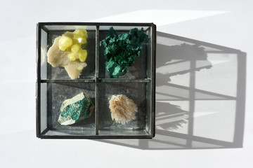 Box with gemstone collection