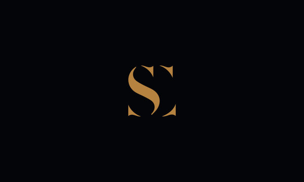 SC logo design template vector illustration