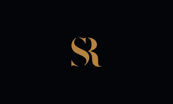 SR logo design template vector illustration