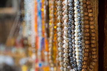 Souvenirs shop in Lagich village, Azerbaijan. Beautiful photo of souvenir shops in the Village bazaar
