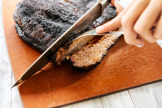 Smoked: Slicing Off A Second Piece Of Brisket