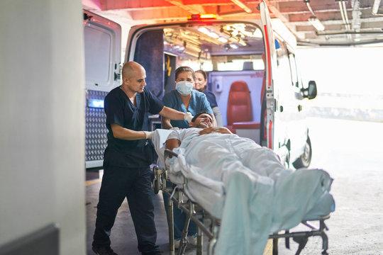 Ambulance bringing a patient