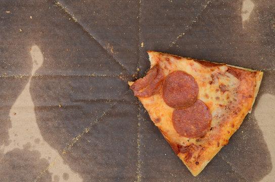 bite of cold pizza