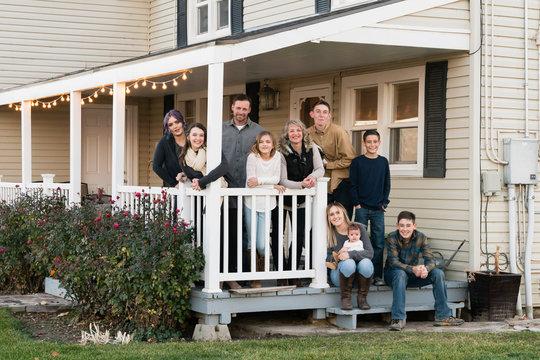 Three-generation Family Portrait at their farm