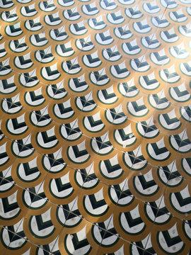 Greek style design on pattern tiles.