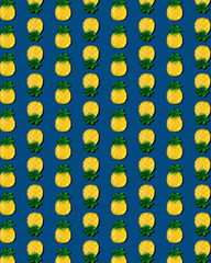 Gummy Pineapple on Blue Pattern