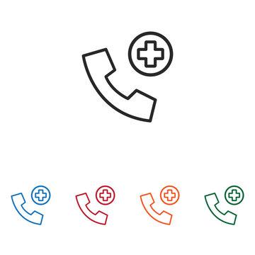 Emergency call vector icon