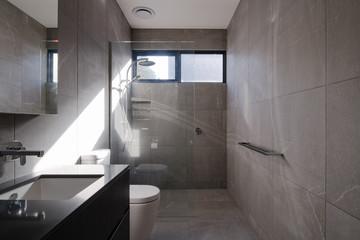 Contemporary sunlit bathroom