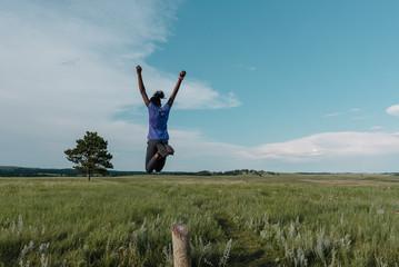 Black Girl Jumping
