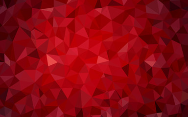 Dark Red vector triangle mosaic texture.