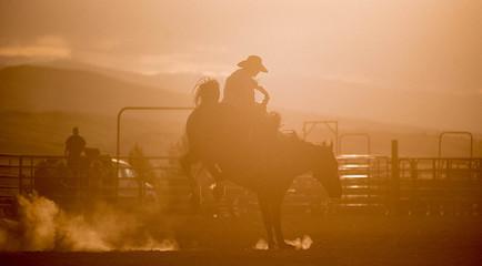 Lander Rodeo at Sunset