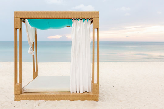 Beach cabana in Thailand
