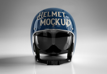 Motorcycle Helmet Mockup Isolated on Gray Background