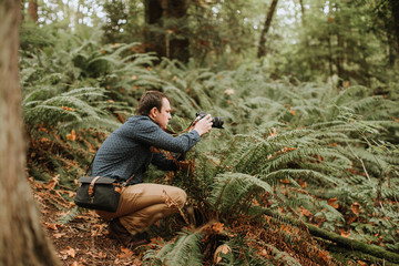 Photographer Taking Pictures in Nature