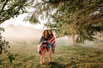 Girls With Flag