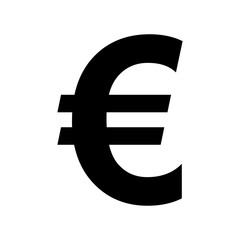 Euro sign icon flat vector illustration design